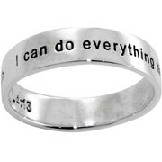 Ring-Philippians 4:13-Style 495--Size 8