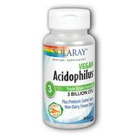 Solaray Probiotics Acidophilus plus Carrot Juice 3 billion - 30 Capsules
