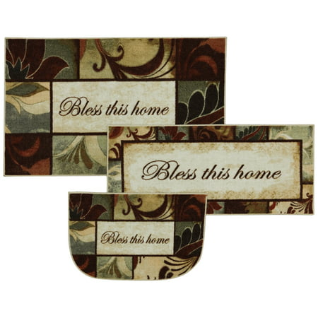 Mohawk Home New Wave Rules To Live By Kaleidoscope Kitchen Mat, Set of 3, Multiple Sizes
