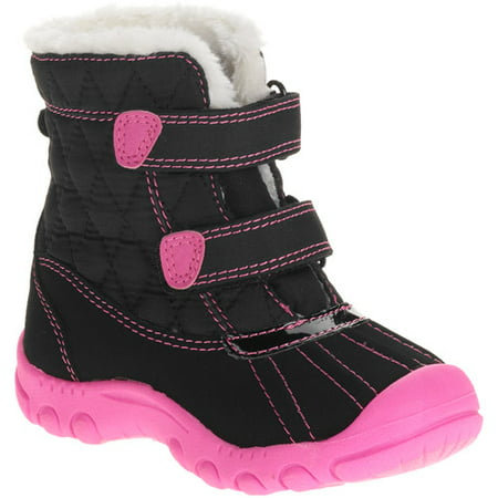 Baby Girl S Puddle Fur Lined Quilted Snow Boots Walmart Com