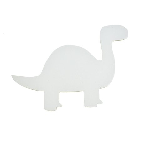 Dinosaur Primed DIY Paint-a-Canvas, White, 8-Inch](Diy Dinosaur Tail)