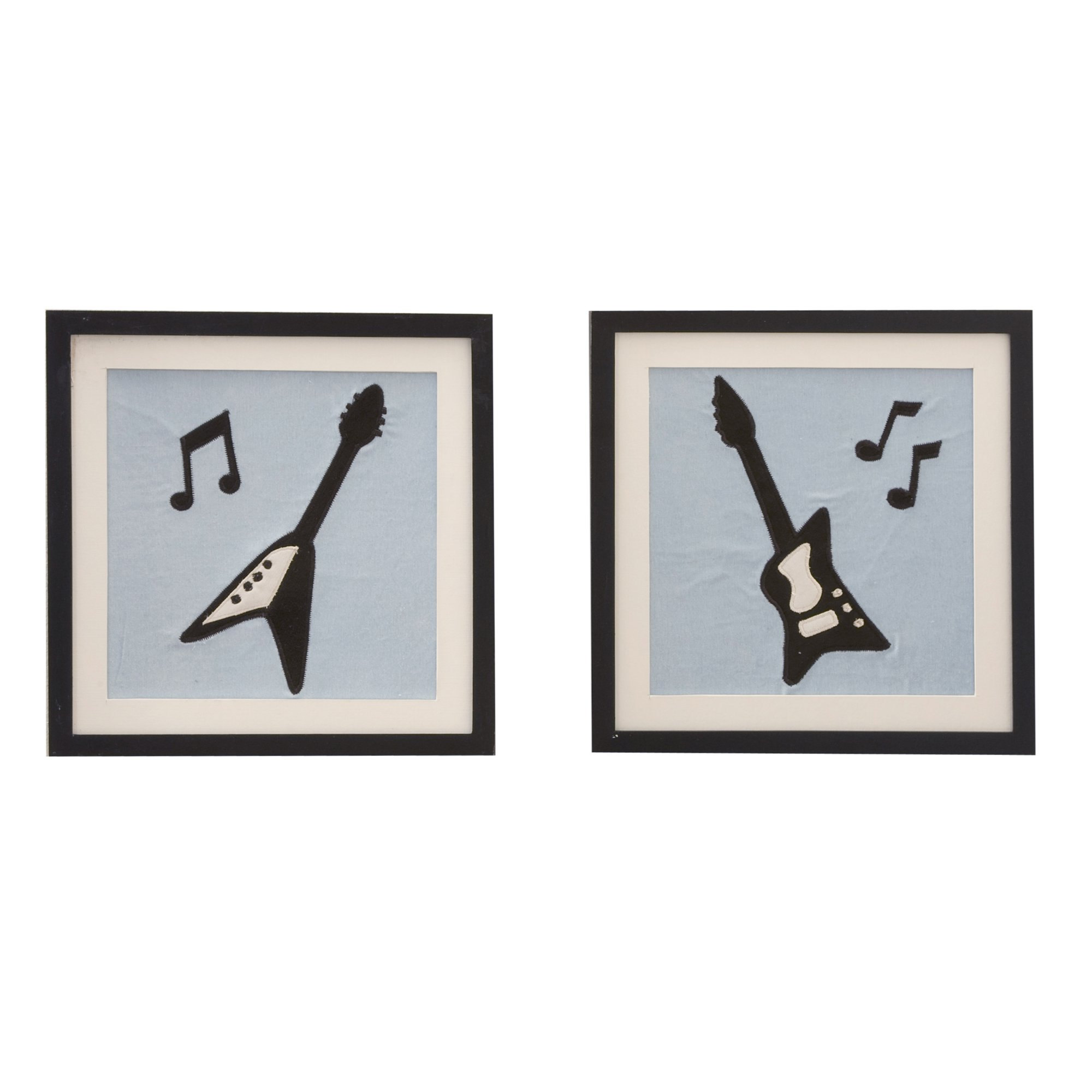 Lambs & Ivy Rock 'N Roll Music Blue Art Guitar Nursery Wall Decor