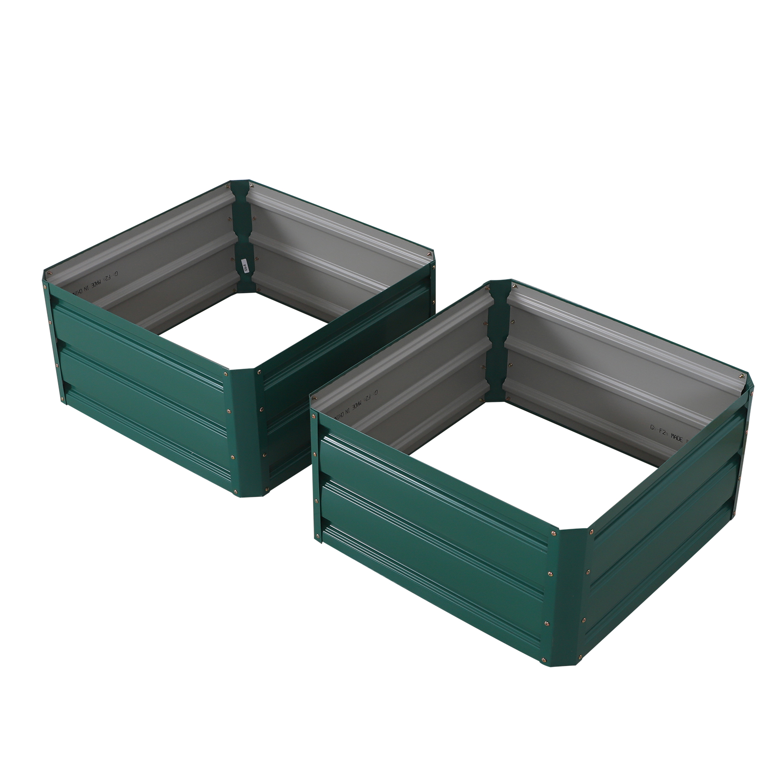 Outdoor 2x2 Ft Metal Raised Garden Bed Patio Frame Planters Box for Vegetables//Flower//