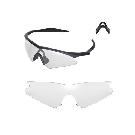 e96bfddb18 Walleva - Walleva Clear Replacement Lenses And Black Nosepad For ...