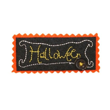 ID 0836B Halloween Sign Patch Decoration Craft Embroidered Iron On Applique