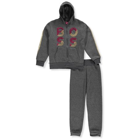 5139c71e3e Girls Luv Pink Girls' 2-Piece Sweatsuit Pants Set