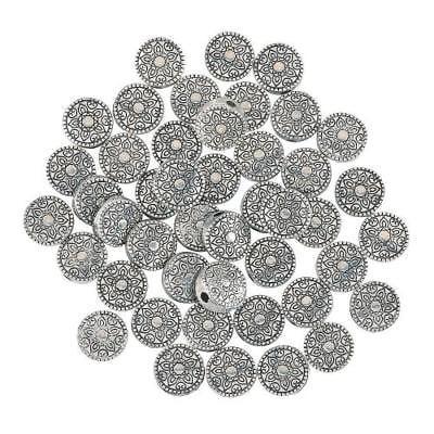 IN-13743924 Silvertone Decorative Spacer Beads - Decorative Brads