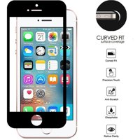 HR Wireless Clear Tempered Glass Screen Protector LCD Film Guard Shield for Apple iPhone 5/5S/SE, Black