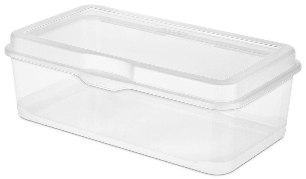 6 Pack Sterilite 18058606 Plastic FlipTop Latching Storage Box
