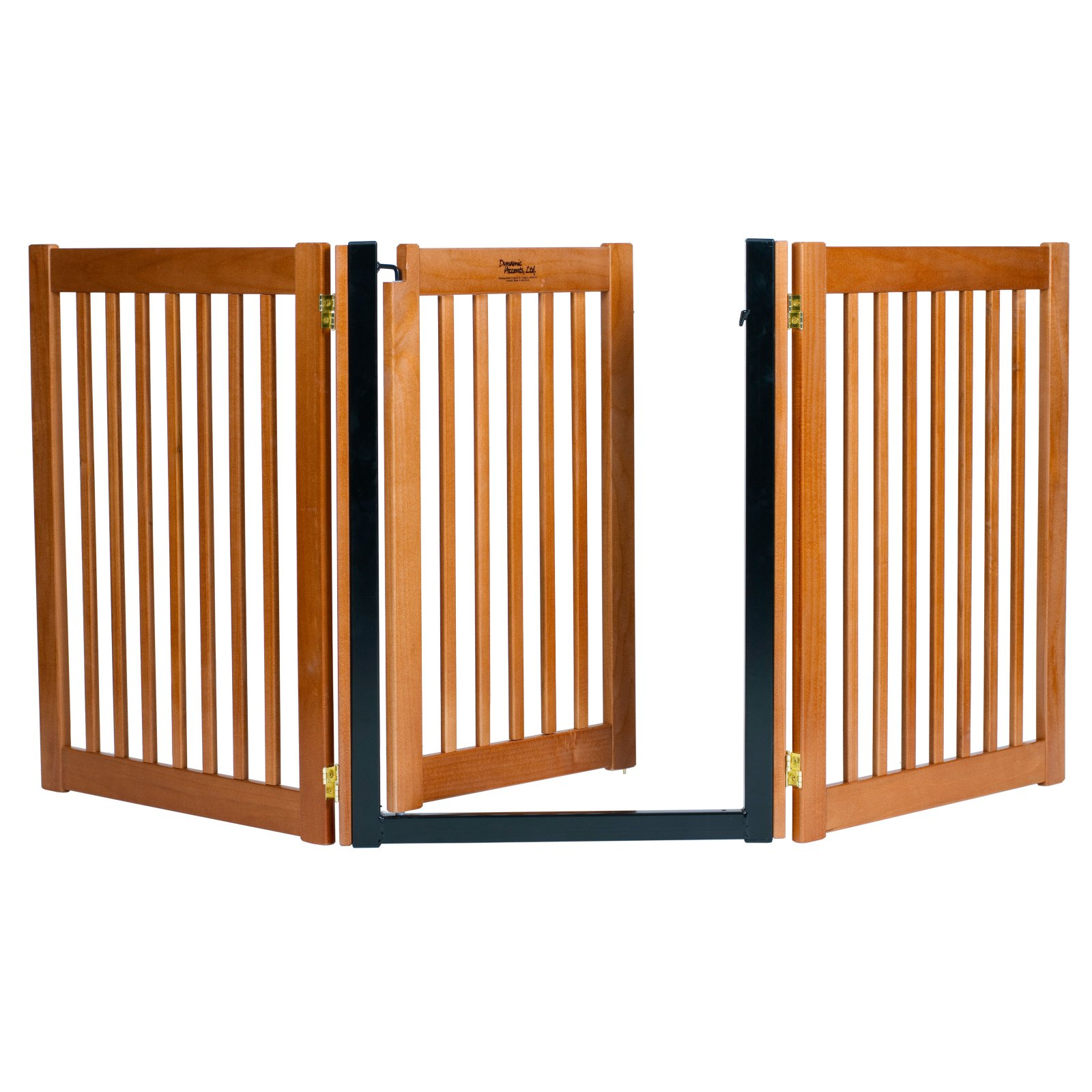 Dynamic Accents 32 in. Walk-Through 3 Panel Free Standing Gate - Artisan Bronze