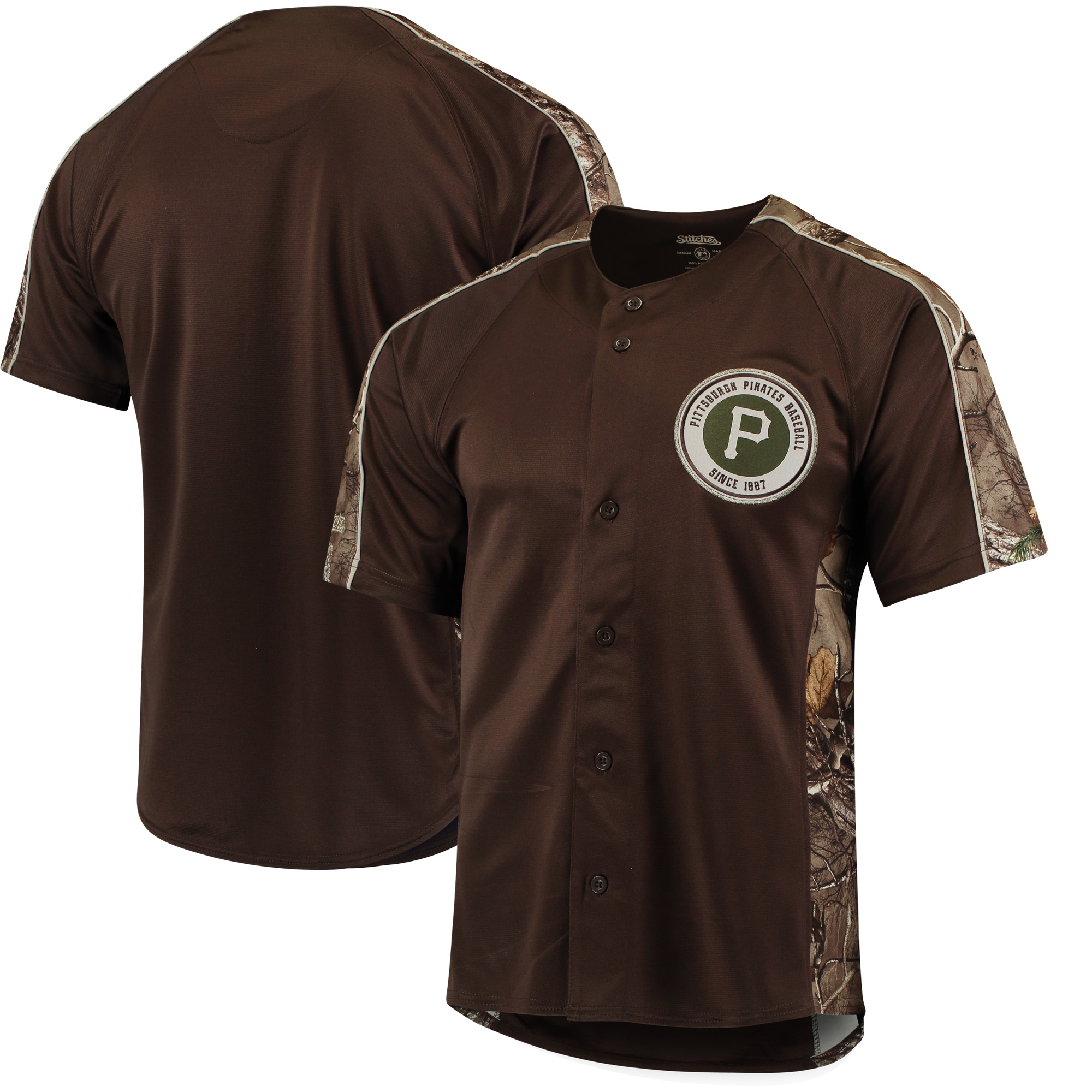 Pittsburgh Pirates Stitches Replica Jersey - Realtree Camo