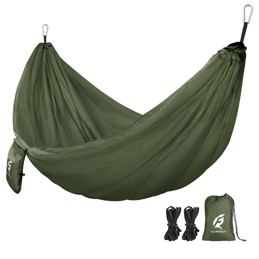 Portable Parachute Nylon Hammock for Camping Backpacking Survival AIEason Single /& Double Camping Hammock with Mosquito//Bug Net Easy Assembly Travel /& More