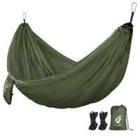 Deals on QUANFENG QF Single Camping Hammock with 10FT Tree Straps