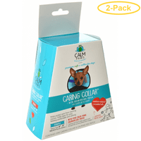 Calm Paws Caring Collar with Calming Gel Patch for Dogs X-Small - 1 Count - (Neck: 6-9) - Pack of 2