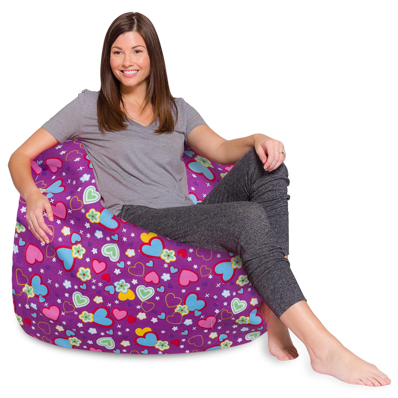 Gaming Chair Chevron Blue Kids Bean Bags Dorm Room Decor Adult Floor Cushion Retro