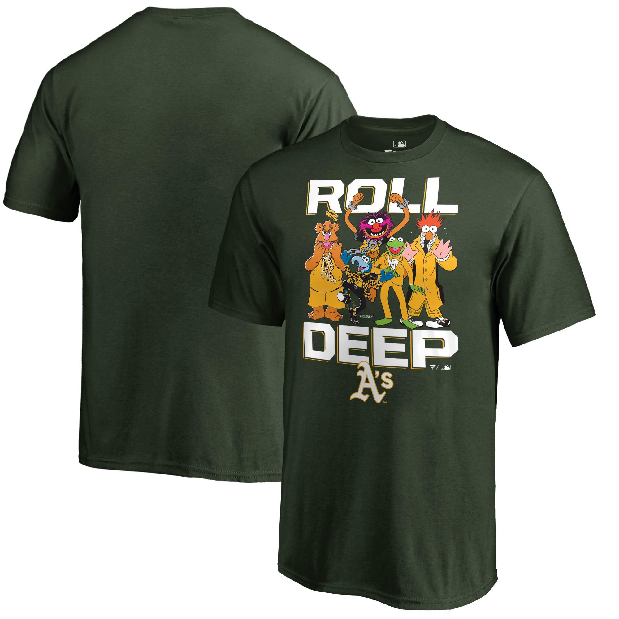 Oakland Athletics Fanatics Branded Youth Muppets Roll Deep T-Shirt - Green
