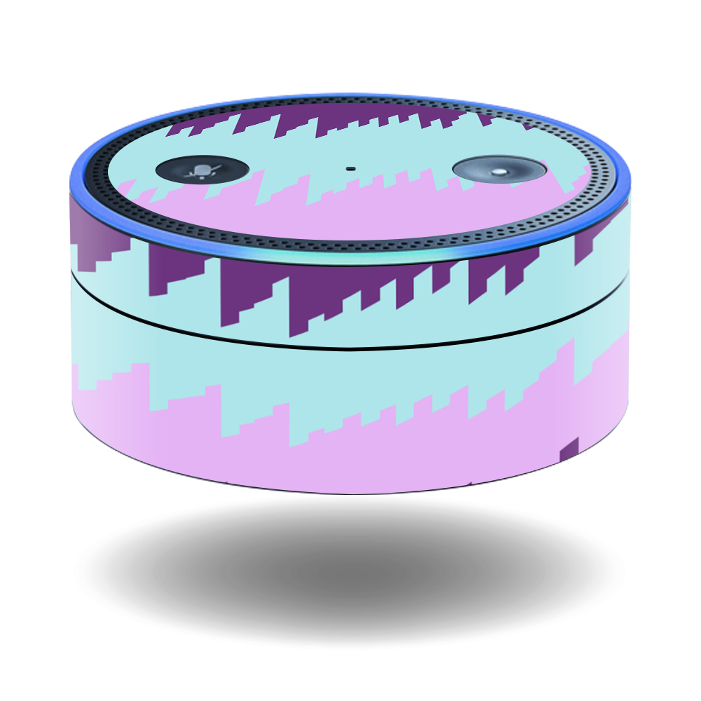 MightySkins Protective Vinyl Skin Decal for Amazon Echo Dot (1st Generation) wrap cover sticker skins Crazy Rectangles