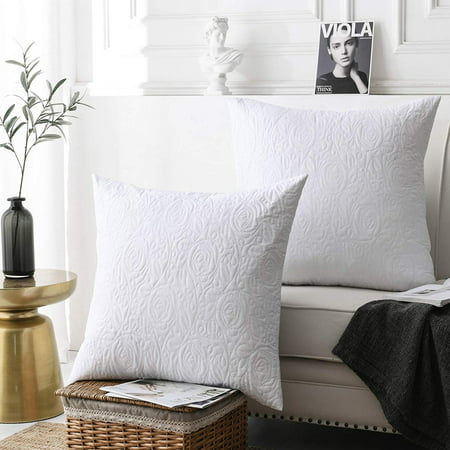 MarCielo 2 Pack Euro Sham Covers Euro sham White 26x26 (Colorful Euro Sham Cover)