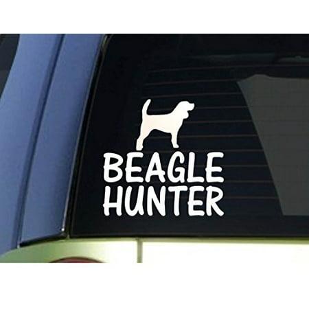 Beagle Tile Box - Beagle hunter *H902* 6 inch Sticker decal rabbit hunting dog box