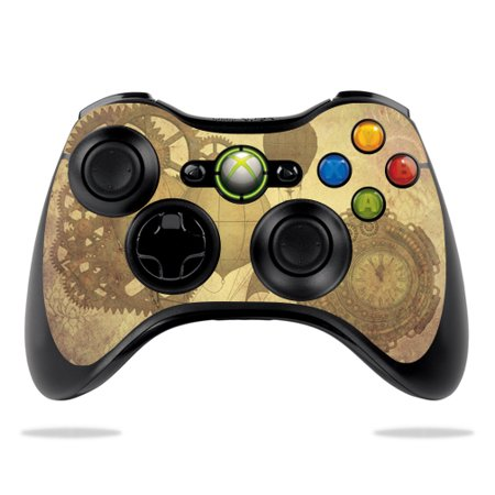 Skin Decal Wrap for Microsoft Xbox 360 Controller Steam Punk Paper