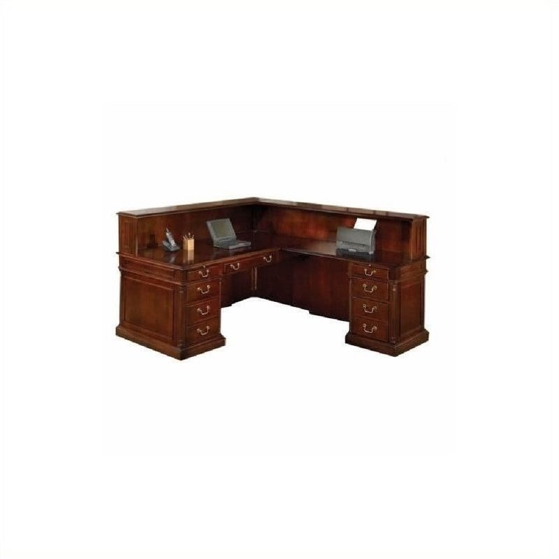 Dmi Furniture Flexsteel Keswick Right Reception L-Desk-High Pressure Laminate - 7990-66HPL