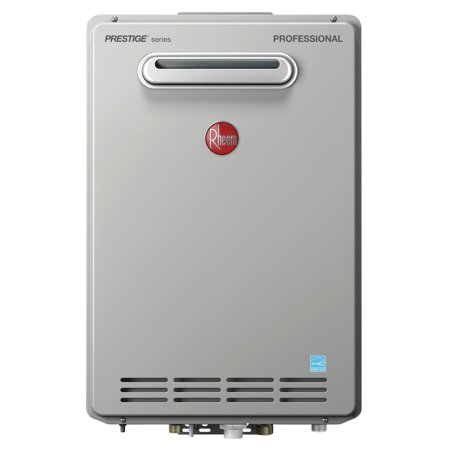 - Rheem RTGH-84XLN-2 Prestige 8.4 GPM Natural Gas High Efficiency Outdoor Tankless Water Heater