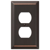 Amerelle 163DDB Traditional Steel Wallplate with 1 Duplex Outlet, Aged Bronze