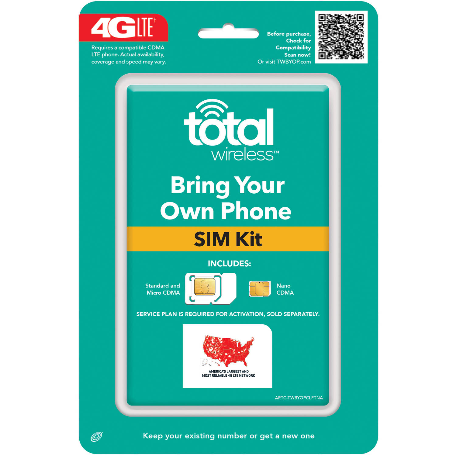 Total Wireless CDMA Compatible Universal SIM Activation Kit