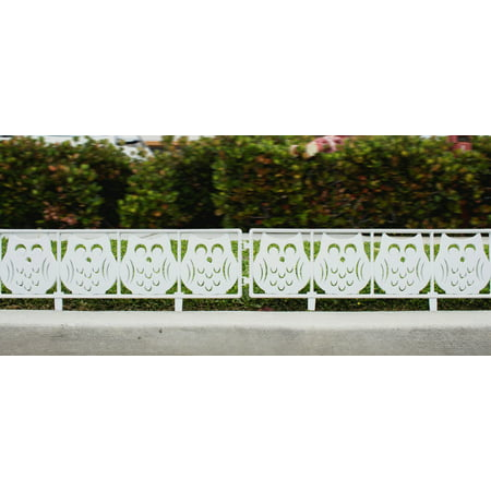 Ornamental Fencing - Garden Fence Panel 7 Ft Yard Decorative Fencing Panel - White Owl