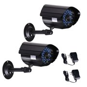 VideoSecu 2x Infrared Weatherproof Outdoor Indoor Security Camera IR Day Night Vision 36 LEDs with 2 Power IR808HSK2 BNN