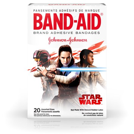 (Band-Aid Adhesive Bandages, Star Wars Characters, Assorted Sizes 20 ct)