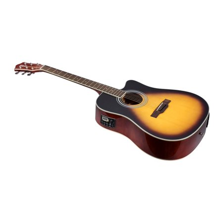 Monoprice Foothill Acoustic Electric Guitar - Vintage Sunburst, With Tuner Pickup And Gig Bag - Idyllwild Series (Pickups Acoustic Guitar)