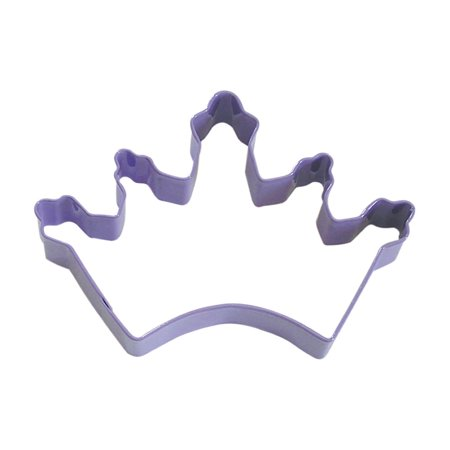 Crown Lavender Poly Resin Coated Tin Cookie Cutter 5 in - R&M Cookie Cutters - Tin Plate (Crown Race Cutter)