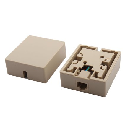 RJ45 8P8C Cat5 Ethernet Network Cord Wall Surface Mount Connector Box 2