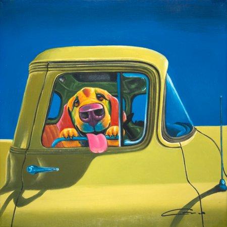 Dog -Blue Truck Wall Art - Walmart.com