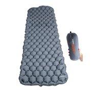Inflatable Camping Sleeping Pad, Ultralight Outdoor Sleeping Mat For Sleeping Pads Backpacking, Hiking Air Mattress(Grey)