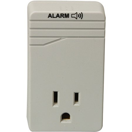 Woods Appliance 1 Outlet 900 Joule Surge Protector With Alarm  Gray  041000