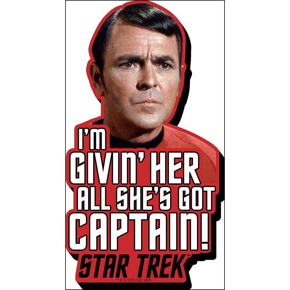 Star Trek Scotty Quote Funky  Chunky Magnet, More Gifts by NMR Calendars