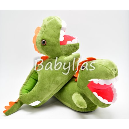 Dinosaur Slippers T-Rex Plush Soft Warm Winter Shoes Fluffy Unisex Cartoon Cute - Fluffy Bunny Slippers