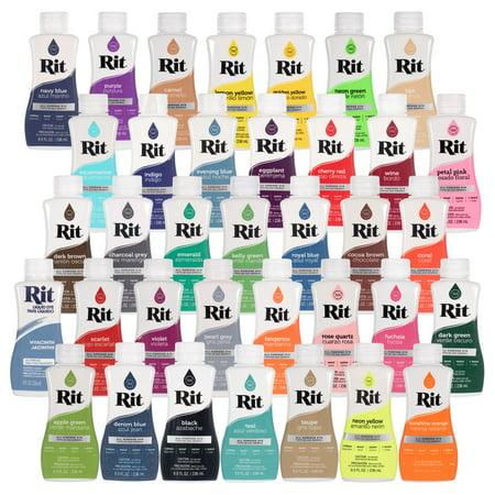 Craft County 8oz Rit Liquid All-Purpose Dye - Paint Fabrics & More - Huge Color Selection for Tie-Dye, Dip-Dye, Marble, Ombré, & Shibori