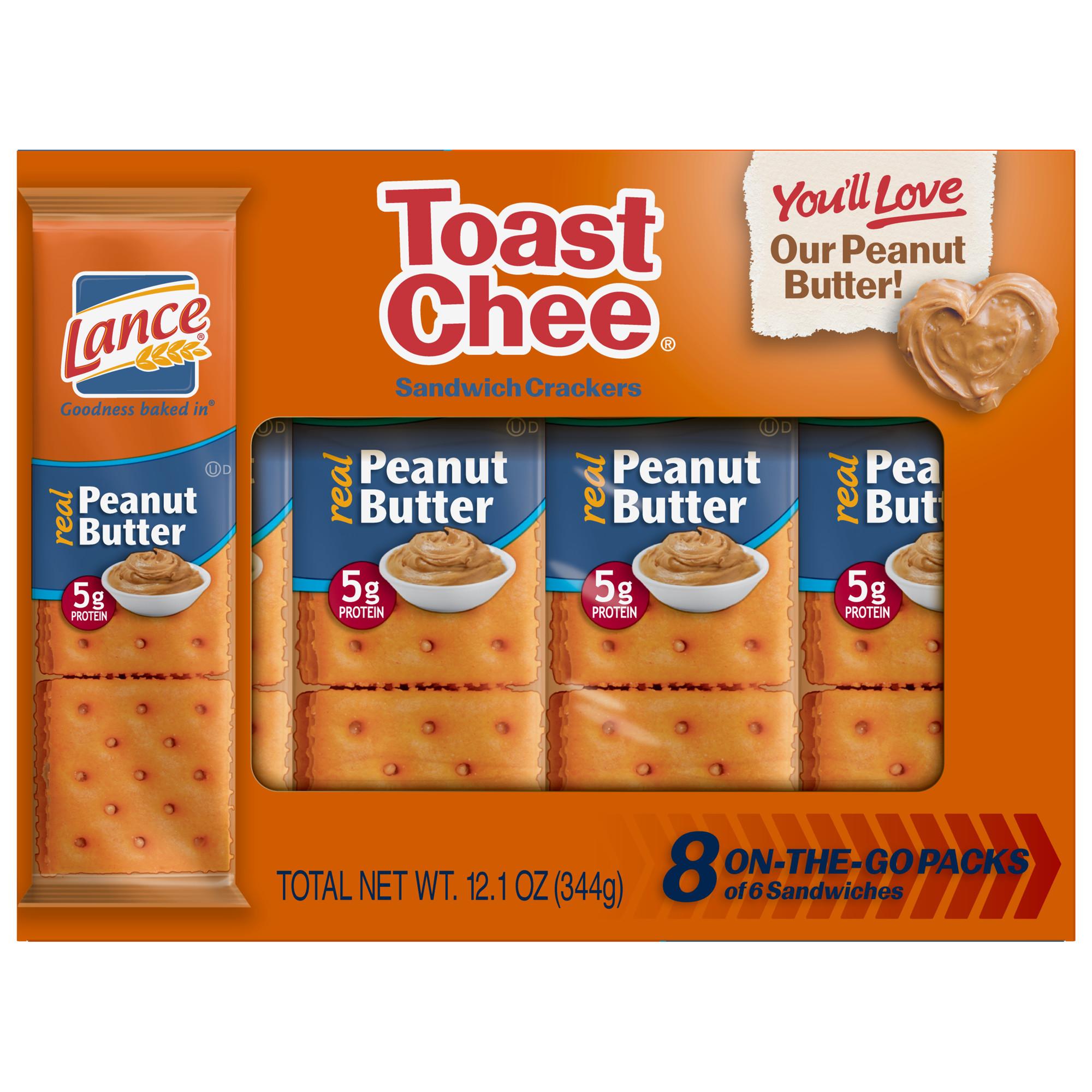 Lance ToastChee Peanut Butter Sandwich Crackers, 8 Ct