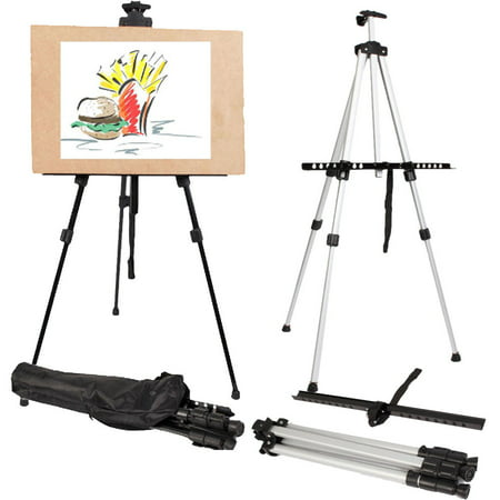 Whiteboard Stand - Ktaxon Adjustable Height Folding Art Sturdy Drawing Easel Stand, 63 Inches Tall Telescoping Field Tripod for Tabletop or Floor, Painting Exhibition Whiteboard Holder, Wedding Studio