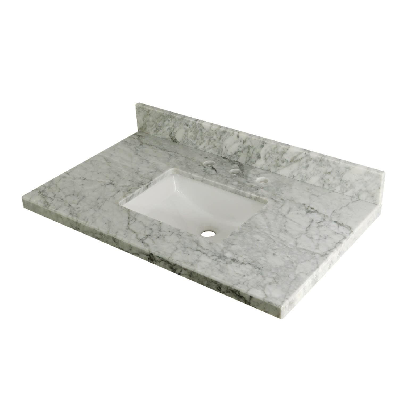 Kingston Brass Carrara Marble 20'' Single Bathroom Vanity Top   Walmart.com