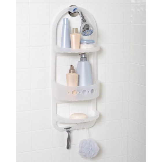 Zenith Large Plastic Over the Shower Caddy, Frosted - Walmart.com