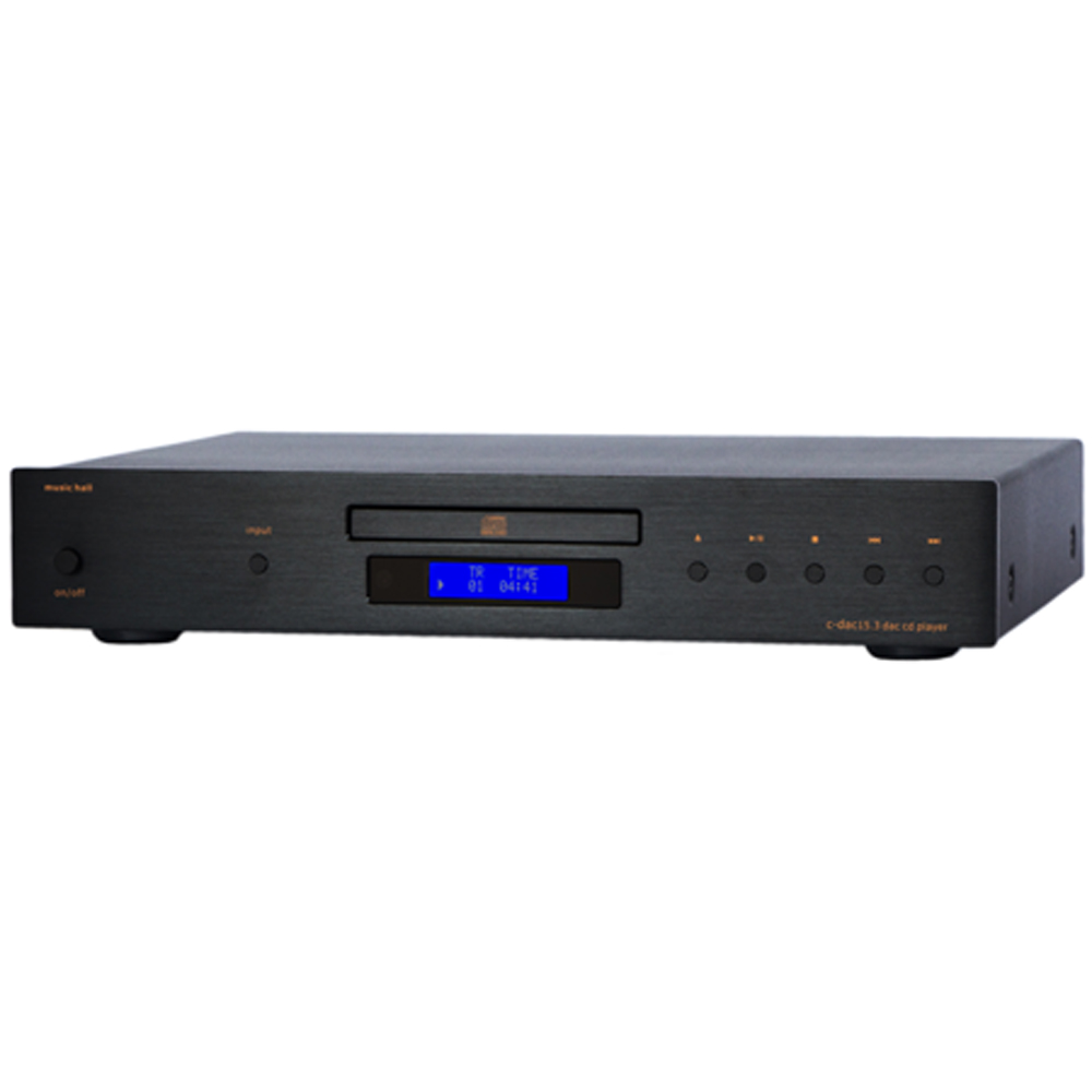 Music Hall C-DAC15.3 3-Input DAC CD Player with Remote Black by Music Hall