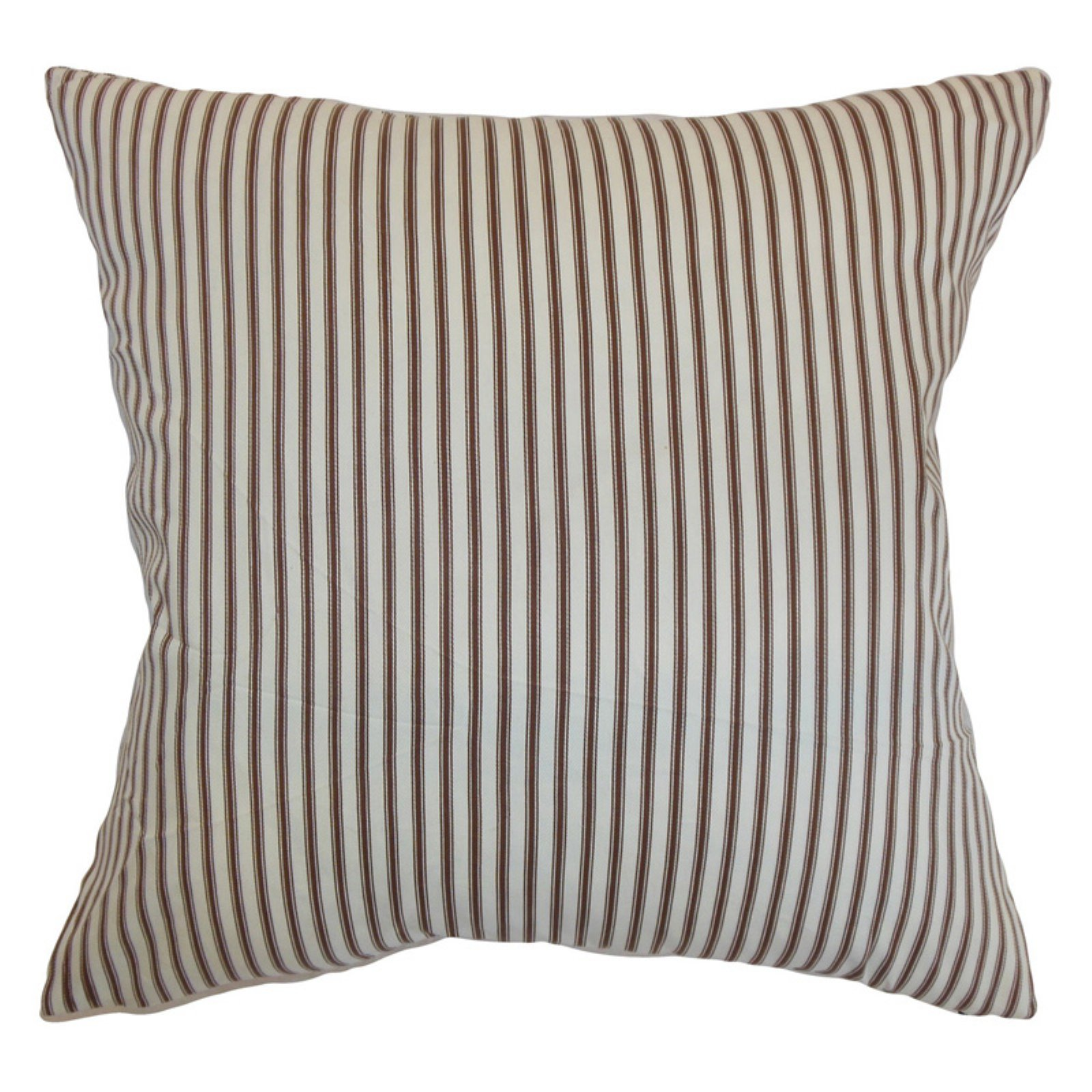 The Pillow Collection Daxiam Stripes Pillow - Brown White