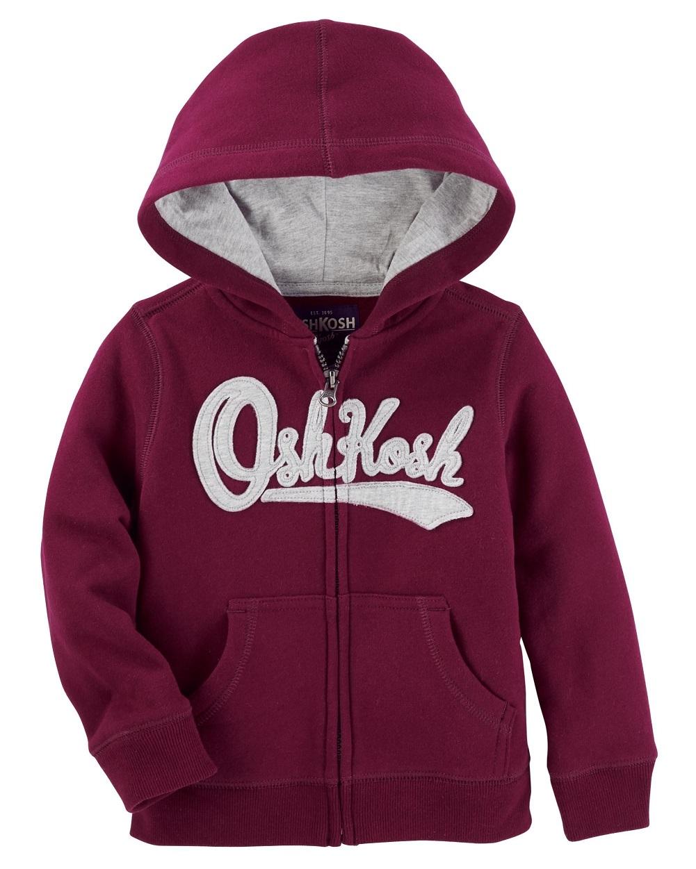 OshKosh B'gosh Little Boys' Logo Fleece Hoodie, 5-Kids