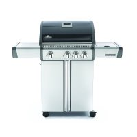 Napoleon Triumph 410 LP Gas Grill with Side Burner, Black with Cover