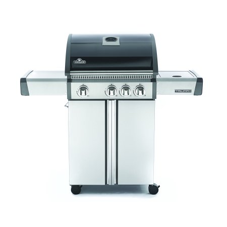 Napoleon Triumph® 410 LP Gas Grill with Side Burner, Black with Cover ()