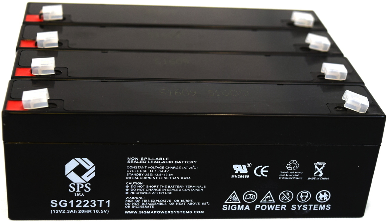 SPS Brand 12V 2.3 Ah Replacement Battery for Siemens SYMPHONY (4 pack) by Sigma Power Systems